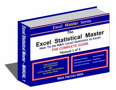 Excel Statistical Master - Over 400 Pages and Videos of Easy-To-Understand Statistics