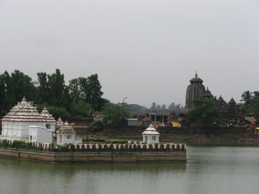 Tranquil view of the temple surrounding