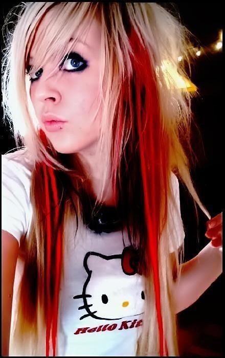 Emo fringe hairstyle