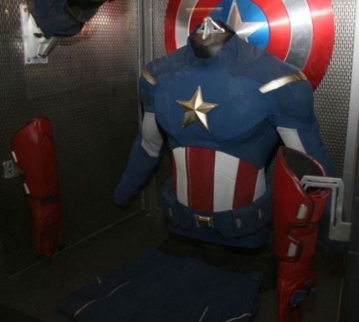 Captain America Costume Display