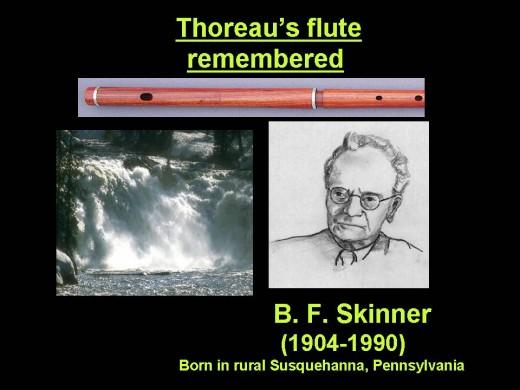 Thoreau's flute heard by Skinner, half a century after Thoreau's death (1862)