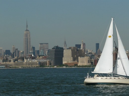 Sailing on the Hudson River.