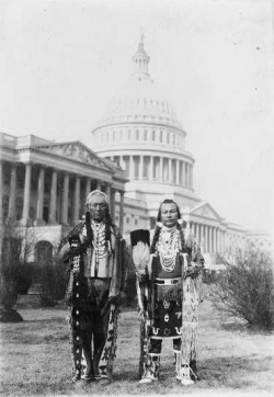 Yakima Chiefs at State Capital in Oregon, 19??