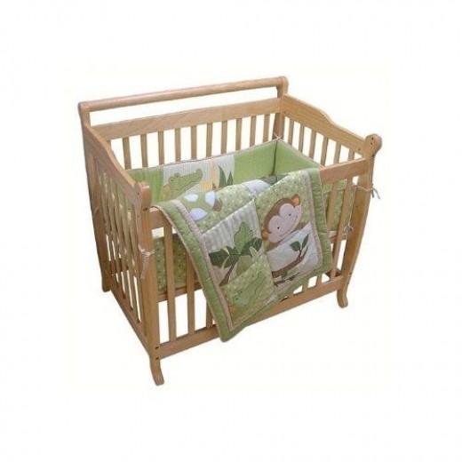 Green Papagayo Mini Crib Set by Lambs & Ivy