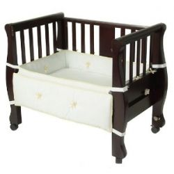 Arm's Reach Co-Sleeper Bassinet Sleigh Bed, Espresso