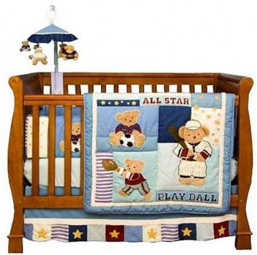 Play Ball Sports 6 Piece Baby Crib Bedding Set