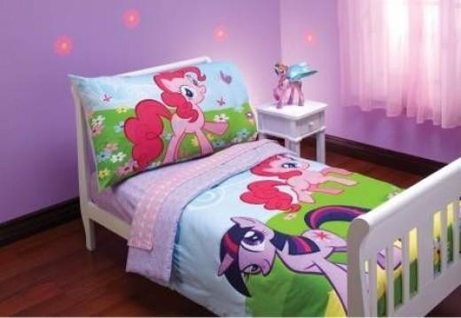 Hasbro My Little Pony 4 Piece Toddler Bedding Set