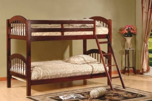 Wood Arched Design Convertible Bunk Bed