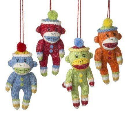 Sock Monkey Ornaments