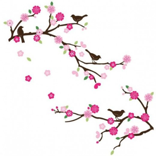 Blossom & Birds Decorative Nursery Wall Sticker Decals
