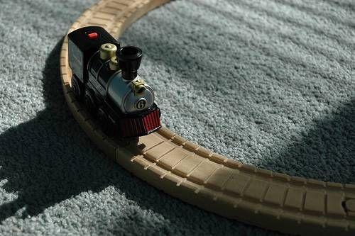 Train on a train track