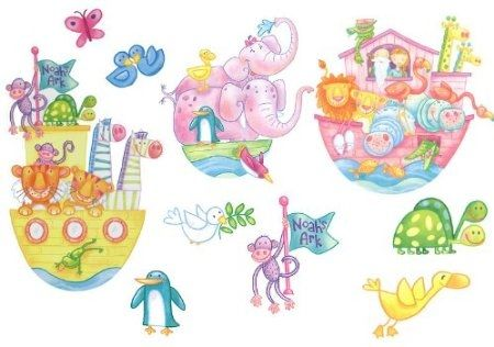 Noahs Ark Animals Wall Decals