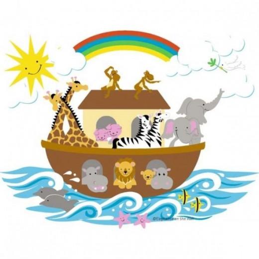 Noah's Ark D I Y Mural