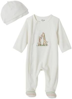 Little Me Layette Footie - Giraffe