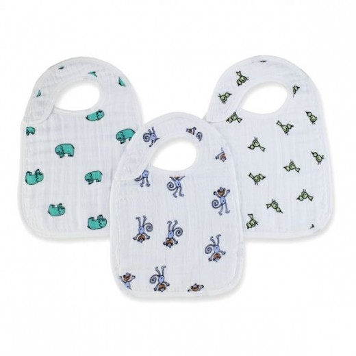 aden + anais 3 Pack Nibble Snap Bibs