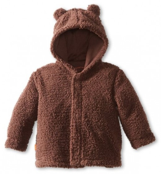 Infant Mocha Hooded Jacket