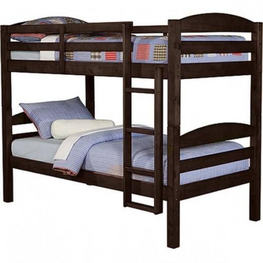 Twin Solid Wood Bunk Bed - Espresso