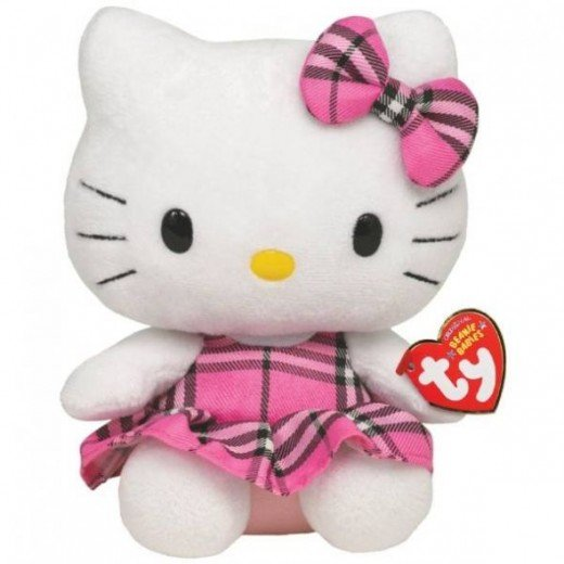 Ty Beanie Baby Hello Kitty Tartan