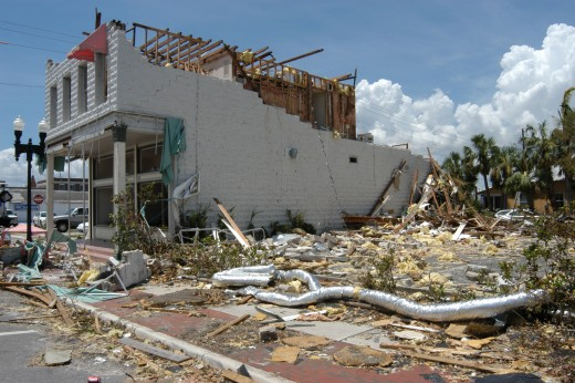 Damage from Hurricane Charley was severe.  There were 32 deaths, and over 700 injuries attributed to the category 4 Hurricane.