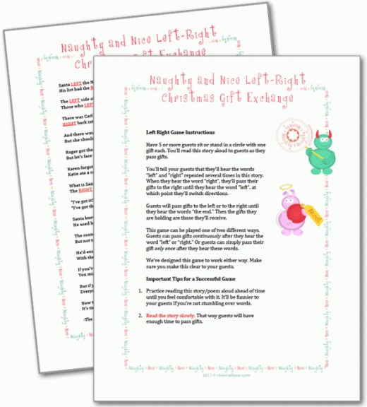 graphic relating to Left Right Christmas Game Printable called Humorous Immediately Remaining Xmas Tale Present Swap Recreation ✓ The