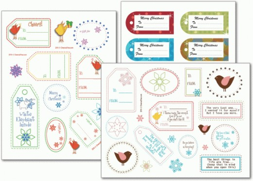Free party games and party printables are available at printable-party-games.com. The adorable gift tags shown here are just one example of the weekly printables you can enjoy when you join their e-mail list.
