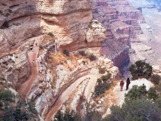 walking Trails in Grand Canyon pic
