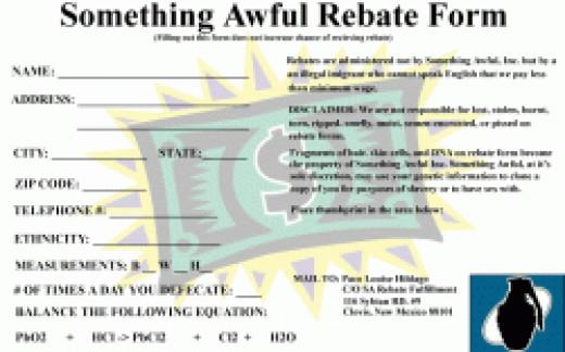 Something Awful Rebate Form