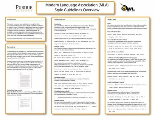 mla essay format example