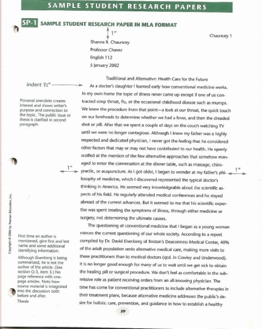 Research Paper Introduction Example And Sample  Hubpages