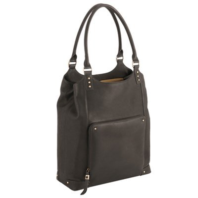 Solo Vintage Collection, Ladies Leather Bucket Tote for Laptops up to 15.4 Inches, Espresso with Kingfisher Blue Lining (VTA802-3)