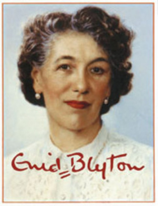 Enid Blyton:  Photo courtesy of http://www.biographyonline.net/writers/enid-blyton.html