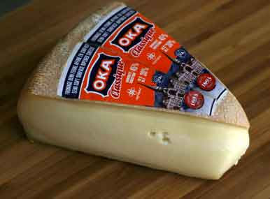 Cheese from the Agropur cheese factory in Oka