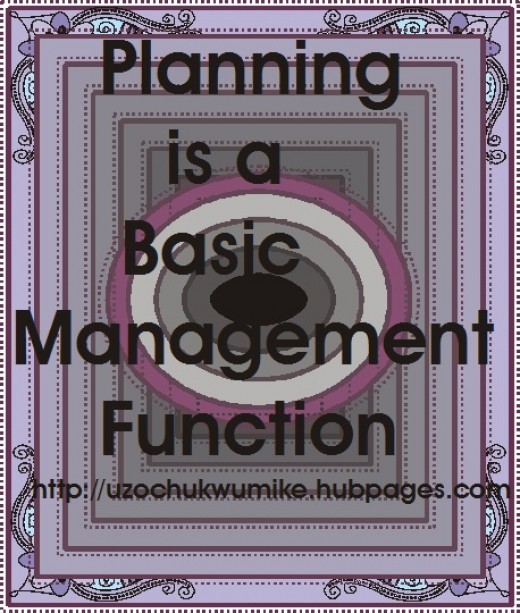 Planning as a basic management function