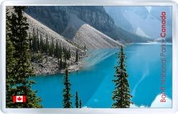 acrylic fridge magnet canada national park banff