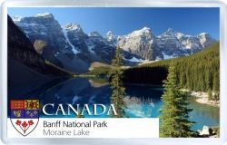 acrylic fridge magnet canada banff national park moraine lake