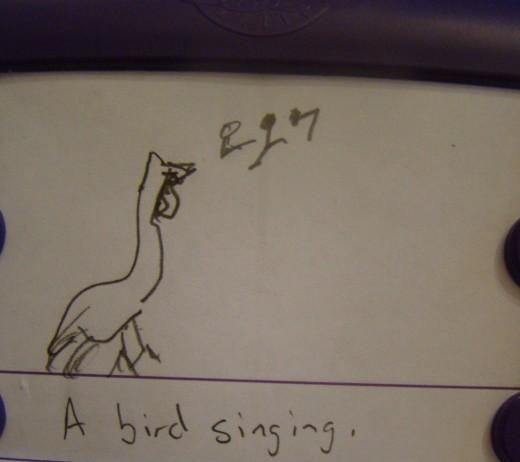Sentence: A bird singing