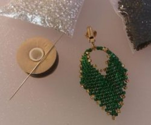 Materials for Russian Beaded Earrings