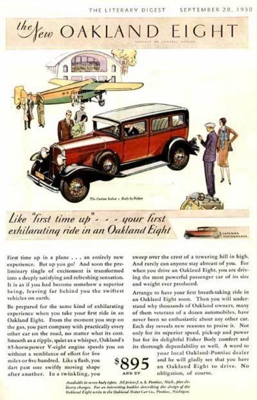 1930 Oakland Eight Sedan