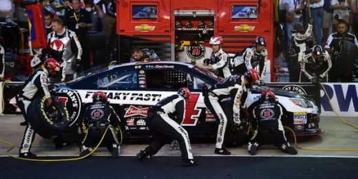 Kevin Harvick's pit crew wasn't perfect but it didn't prevent Harvick from scoring a top five finish
