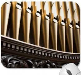 Golden organ pipes mousepad