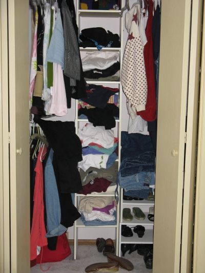 My Closet Before Staging