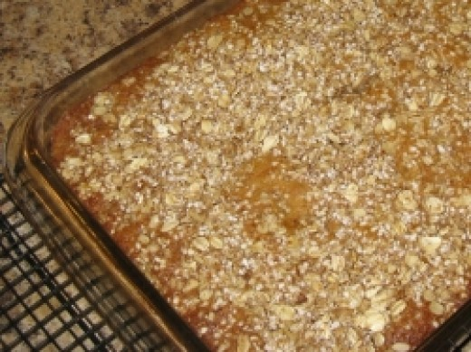 Orange Rhubarb Breakfast Cake