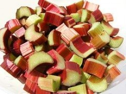 Freshly Chopped Rhubarb