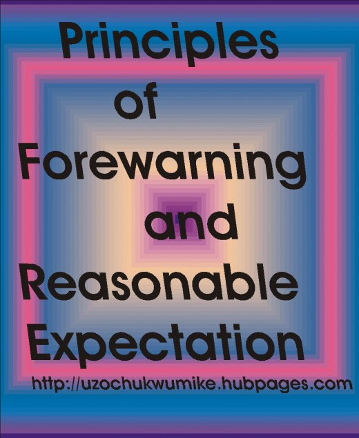 Principles of forewarning and reasonable expectation