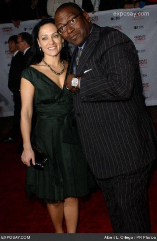 Randy Jackson and his currant wife - Erika Riker