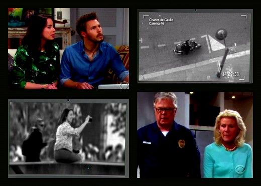 Paris surveillance cameras proved that Quinn was not only in Paris but was responsible for Ivy's dip in the Seine
