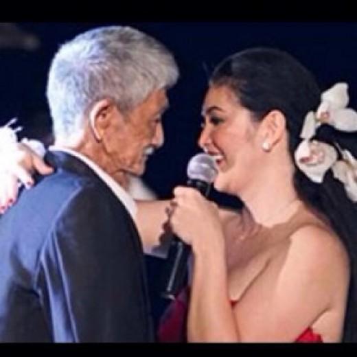 Regine Velasquez with her father Gerardo