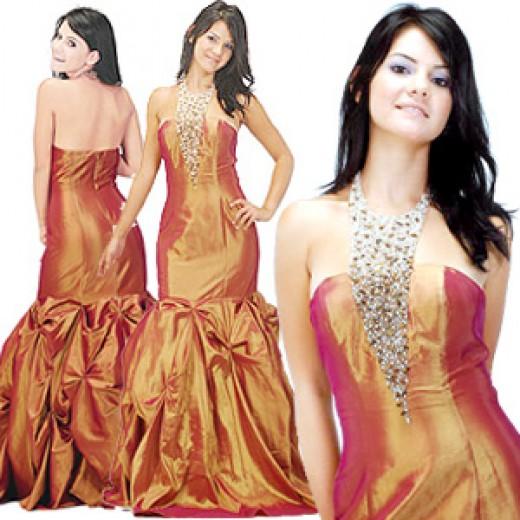 simple wedding dresses bright orange