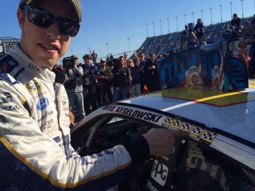 Keselowski added a fifth checkered flag sticker to his collection on Sunday