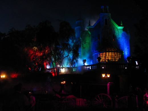 Disney's Haunted Mansion has lots of surprises at Halloween.